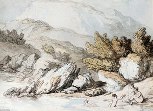 Thomas Rowlandson - Nymphes Baignade