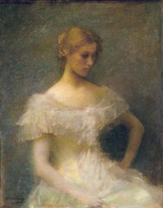 Thomas Wilmer Dewing - Jeune fille assise