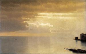 William Stanley Haseltine - Une mer calme , Mentone