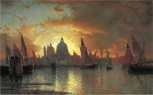 William Stanley Haseltine - Santa Maria della Salute, Coucher de soleil