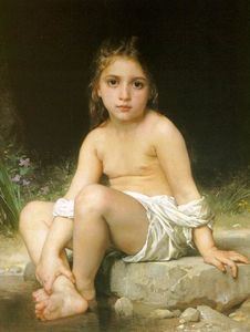 William Adolphe Bouguereau - enfant à bain