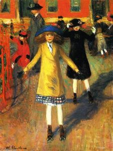 William James Glackens - Enfants Roller Skating