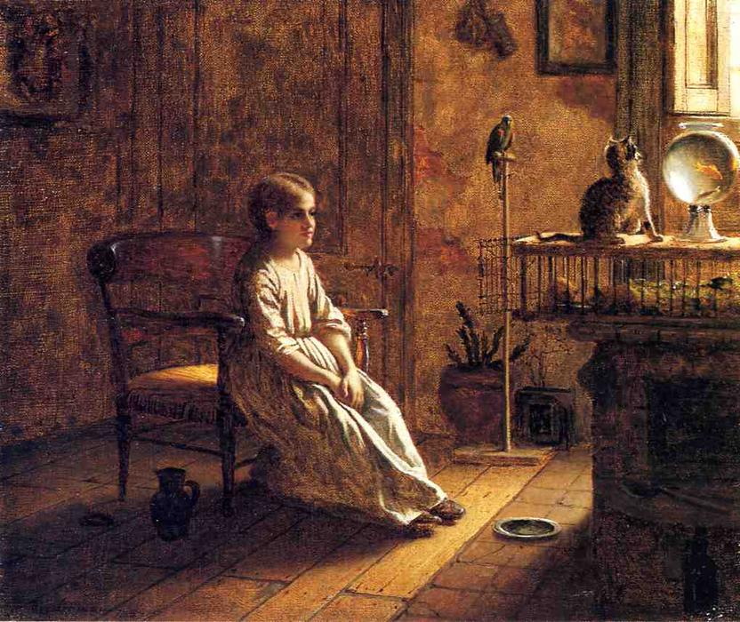 Ménagerie d un enfant, 1859 de Jonathan Eastman Johnson (1824-1906, United Kingdom) | WahooArt.com