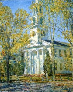 Frederick Childe Hassam - Eglise à Old Lyme