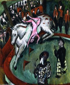 Ernst Ludwig Kirchner - Circus (aussi connu comme Cirque Rider)