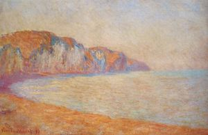 Claude Monet - Falaise à Pourville in the Morning