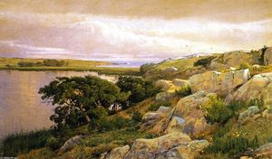 William Trost Richards - Falaises surplombant la baie