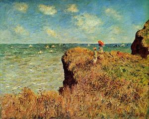 Claude Monet - le cliff walk , Pourville