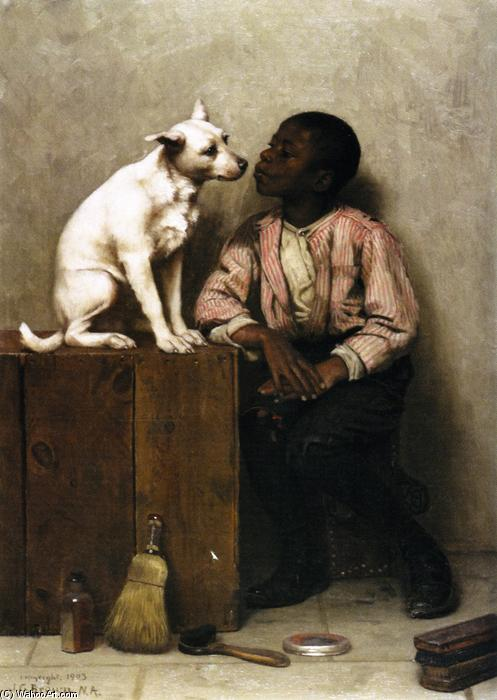 Couleur Non Objection, huile sur toile de John George Brown (1831-1913, United Kingdom)