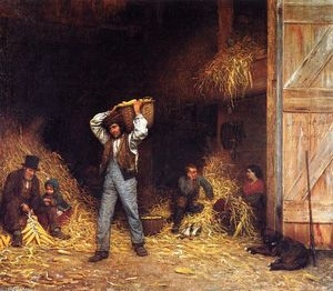 Jonathan Eastman Johnson - Corn Husking