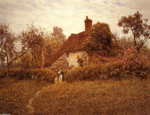 Helen Allingham (Helen Mary Elizabeth Paterson) - Cottage à Pinner