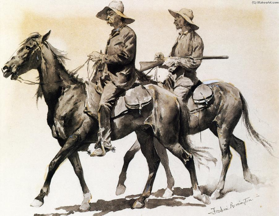 Cracker Cowboys de la Floride, aquarelle de Frederic Remington (1861-1909, United States)