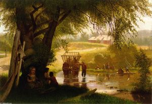 John George Brown - Traverser le ruisseau