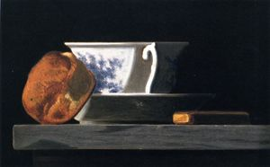 John Frederick Peto - Coupe , biscuit et fruits
