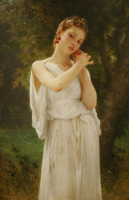 Boucles d oreilles, 1891 de William Adolphe Bouguereau (1825-1905, France)