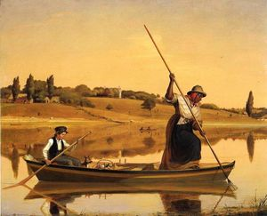 William Sidney Mount - Anguille Spearing au Setauket ( également connu sous le nom recolections de early Jours - pêche along Shore-- ) --