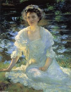 Achat Reproductions D'art | Eleanor Hyde, 1906 de Edmund Charles Tarbell (1862-1938, United States) | WahooArt.com