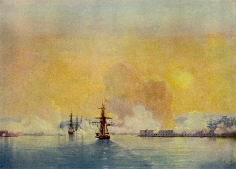Entrée dans la Baie de Sébastopol  Ivan Aivazovsky - huile sur toile - 1852