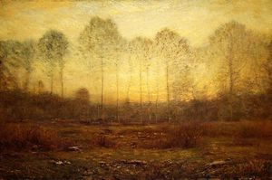 Dwight William Tryon - soir brouillard