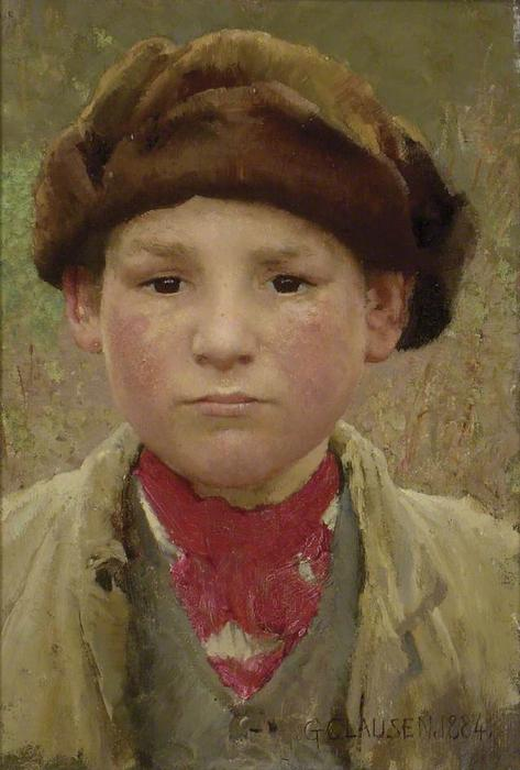 Farmer`s Garçon, 1884 de George Clausen (1852-1944, United Kingdom) | Reproductions D'art George Clausen | WahooArt.com