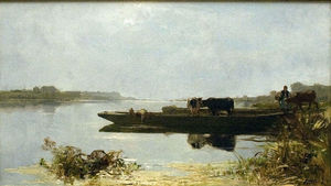 Jacob Henricus Maris - Ferry-boat