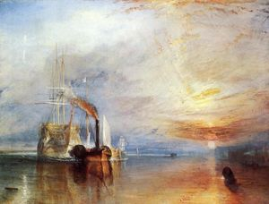 William Turner - Le Fighting Temeraire tira son dernier poste à quai à la casse
