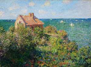 Claude Monet - Fisherman-s cottage à varengeville
