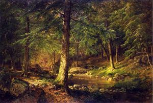 William Trost Richards - forêt scène