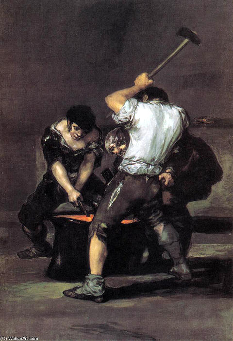 Achat Reproductions D'œuvres D'art | La Forge, 1816 de Francisco De Goya (1746-1828, Spain) | WahooArt.com