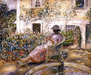 Frederick Carl Frieseke - le fontaine