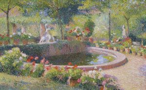 Henri Jean Guillaume Martin - Fontaine dans Marquayrol
