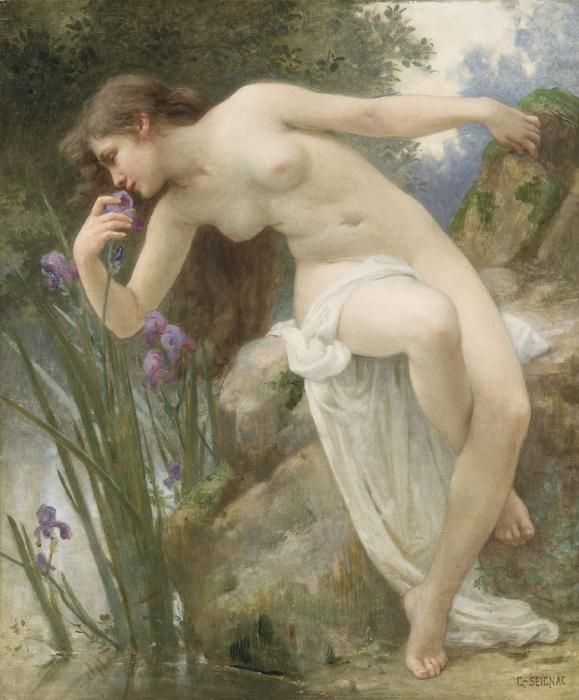 Le Fragrant Iris de Guillaume Seignac (1870-1924, France)