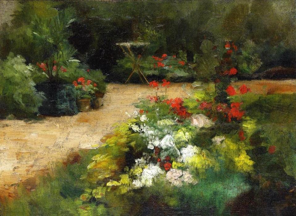 Jardin Et Huile Sur Toile De Gustave Caillebotte 1848