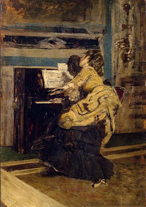 Gentleman au piano de Giovanni Boldini (1842-1931, Italy)