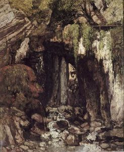 Gustave Courbet - Les Giants Cave de Saillon Suisse du
