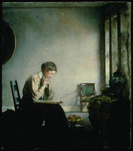 Edmund Charles Tarbell - fille lecture
