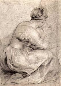 Peter Paul Rubens - le fille `squatted` bas