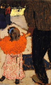 Jean Edouard Vuillard - Fille Portant un châle orange