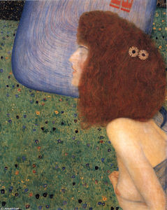Gustav Klimt - Girl With voile bleu