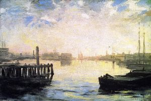 William Morris Hunt - Gloucester Port