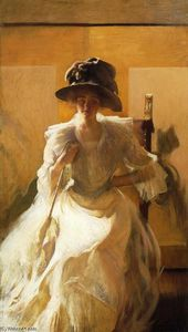 Edmund Charles Tarbell - Le Golden Screen