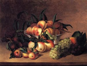 James Peale - Raisins , Apples et bowl of Pêches