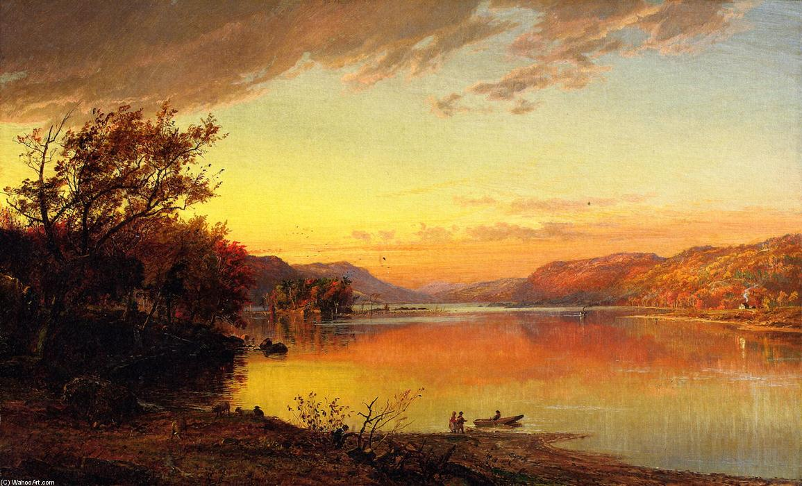 Greenwood Lac , new jersey, huile sur toile de Jasper Francis Cropsey (1823-1900, United States)
