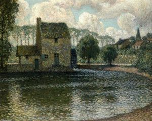 Henri Eugène Augustin Le Sidaner - The Grey Mill, Montreuil-Bellay
