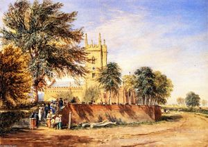 David Cox - Handsworth vieille église , Birmingham