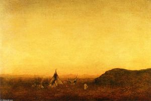Ralph Albert Blakelock - indien camp