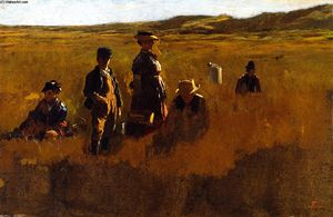 Jonathan Eastman Johnson - dans le champs