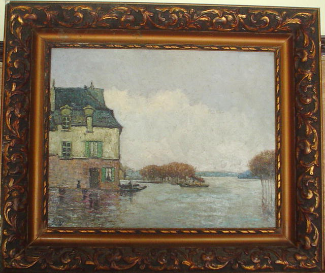 Inodation, Flood (faux?), 1872 de Alfred Sisley (1839-1899, France) | WahooArt.com