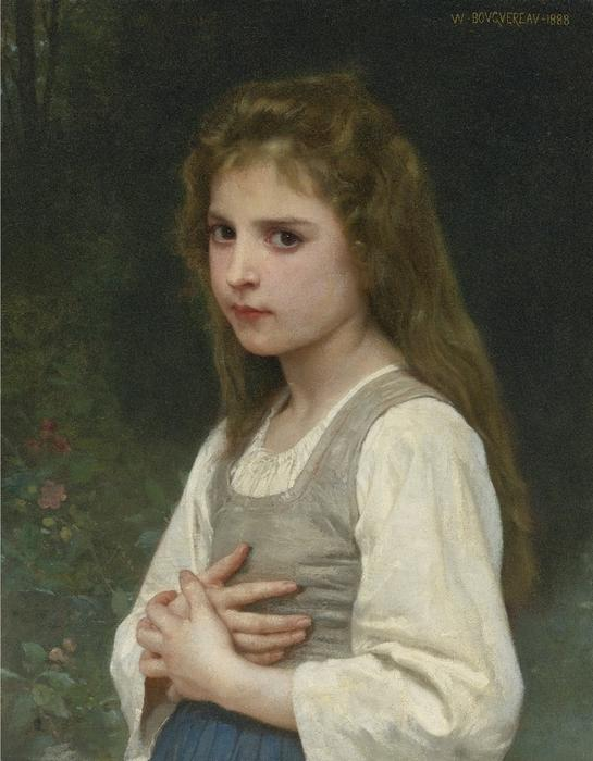 Jeanne, huile sur toile de William Adolphe Bouguereau (1825-1905, France)