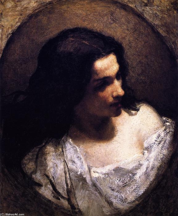 La Juive, 1850 de William Morris Hunt (1824-1879, United States) | Reproductions D'art William Morris Hunt | WahooArt.com